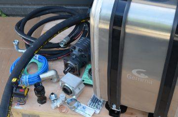 Aluminium oil tank 160lt